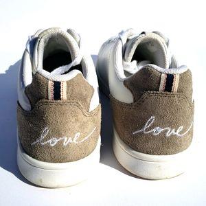 ELLEN DEGENERIS ED Chapalove White Sneakers Sz 8.5